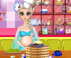 Elsa Pregnant Pancakes