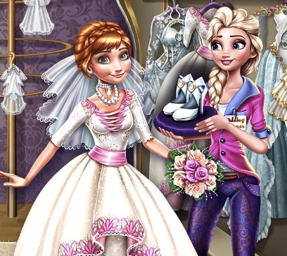 Elsa Preparing Annas Wedding