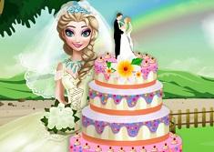 Elsa Wedding Cake Cooking