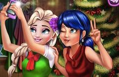 Elsa Xmas Selfie