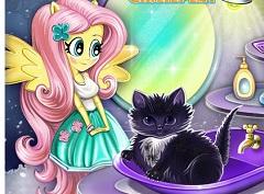 Fluttershy  Cat Care