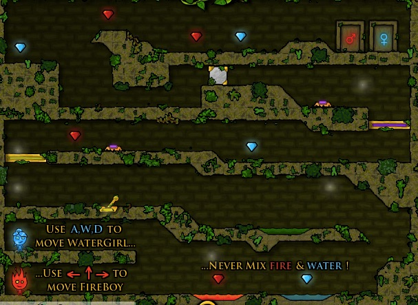 Forest Maze - Fireboy And Watergirl Games