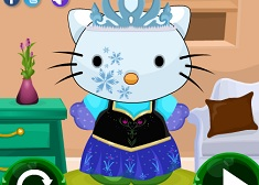 Frozen Hello Kitty Dress Up