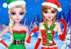 Frozen Sisters Christmas Hairstyle Design