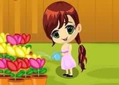 Garden Slacking with Baby Jessy