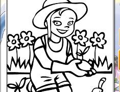 Gardening Online Coloring