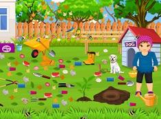Girl Garden Clean Up