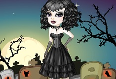 Gothic Girl Lace Dress Up