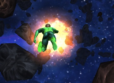 Green Lantern Asteroid Adventure
