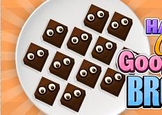 Halloween Cooking Googly Eyes Brownies