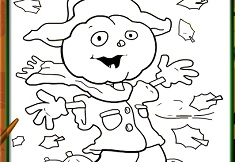 Halloween Scarecrow Coloring