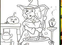 Halloween Witch Coloring