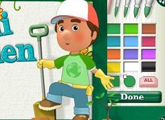 Handy Manny Green Coloring