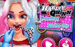 Harley Quinn Dentist and Makeup