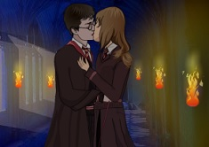 Harry potter hermione makeup games mugeek vidalondon - Hermione granger and harry potter kiss ...