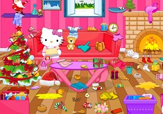 Hello Kitty Christmas Room Decoration