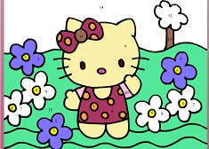 Hello Kitty Color by Numbers