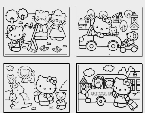 hello kitty coloring book hello kitty games