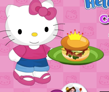Hello Kitty Cooking for the Princesses