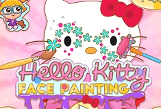 Hello kitty Face Painting
