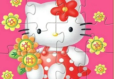 Hello Kitty Flower Puzzle