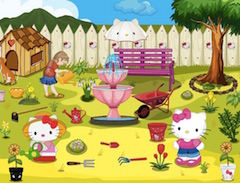 Hello Kitty Garden Clean Up