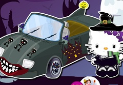 Hello Kitty Halloween Car Wash