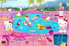 Hello Kitty Messy Swimming