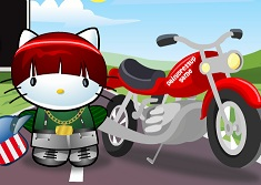 Hello Kitty Motorcycle Ride