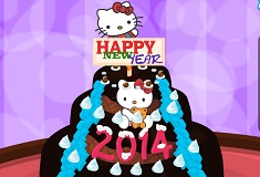 Hello Kitty New Year Cake Decor