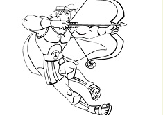 Hercules Coloring Page