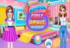 Highschool Girls House Cleaning