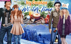 Icy Couples Winter Time