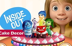 Inside Out Cake Decor