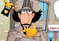 Inspector Gadget at the Barber Shop