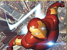 Iron Man Flying Puzzle