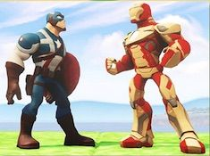 Iron Man vs Captain America Drawings Puzzle