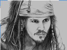 Jack Sparrow Drawing Puzzle