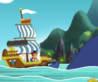 Jake and The Never Land Pirates Ship on the River