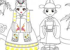 Japanese Girl Coloring