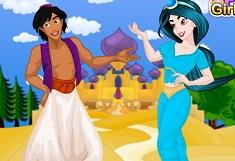 Jasmine and Aladdin Dress Up