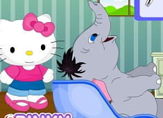 Jumbo at Hello Kitty Hair Salon