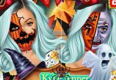 Kylie Jenner Halloween Face Art