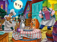 Lady and Tramp Romantic Puzzle