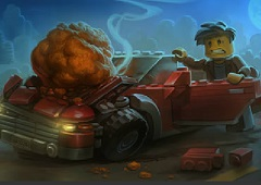 Lego Car Metero Crash