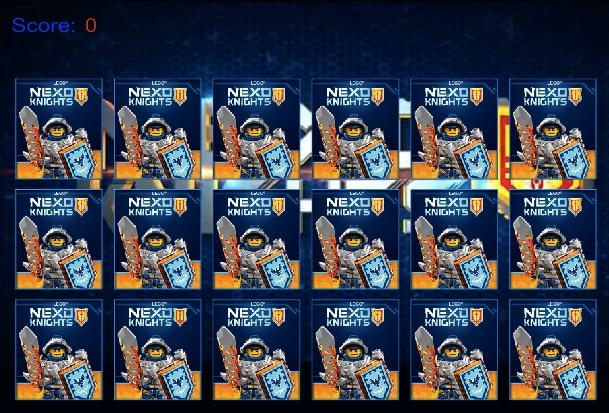 Lego Nexo Memory Cards