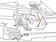 LIGHTNING MCQUEEN COLORING - CARS DISNEY GAMES