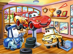 Lightning McQueen in the Workshop Puzzle