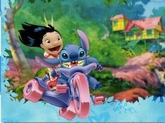 Lilo and Stitch Motorcycle Puzzle