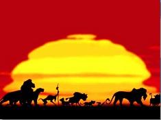Lion King Sunset Puzzle